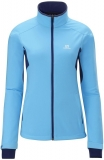 Bunda Salomon Active Softshell dámská Blue/violet