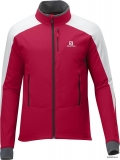 Bunda Salomon Momentum Softshell Red Matador/white/cloud