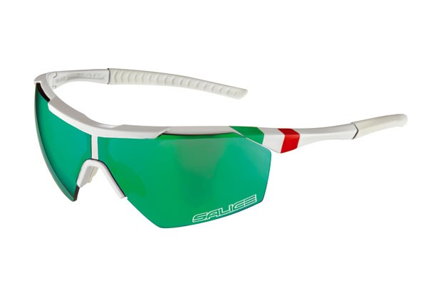 Brýle Salice 004 ITA White/multireflex green/transparent