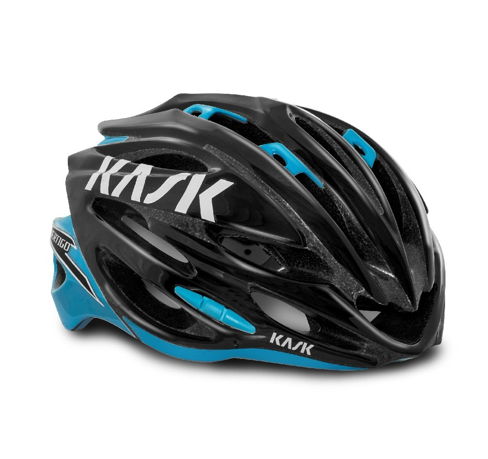 Přilba Kask Vertigo 2.0 Black/light blue M 48-58 cm