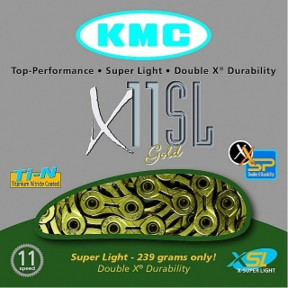 Řetěz KMC X-11 SL Gold Superlight