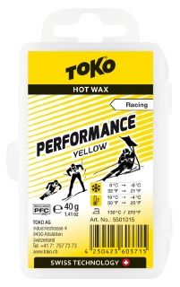 Vosk Toko Performance Yellow 40g 0 -6°C